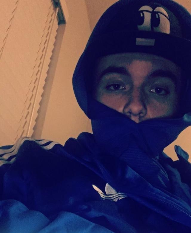 Patrick Nelson aka Mute Davinci in a blue jacket